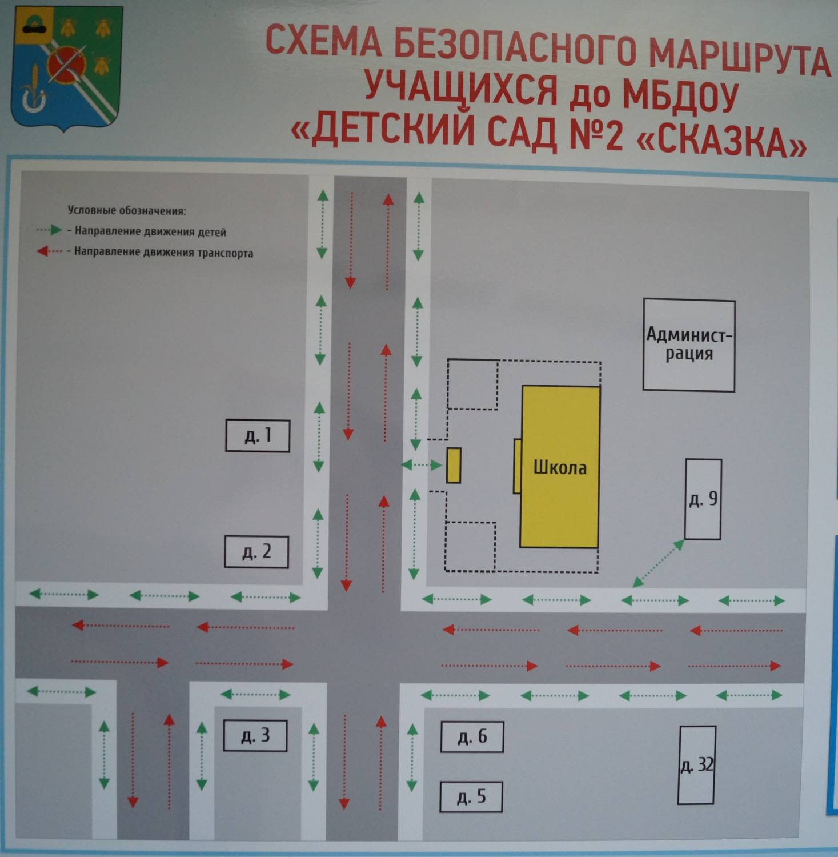 Рисунок маршрута от дома до школы образец